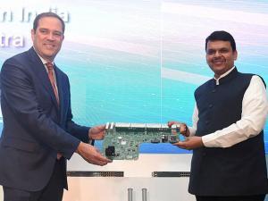 Chuck Robbins, CEO of Cisco Systems and Maharashtra CM Devendra Fadnavis