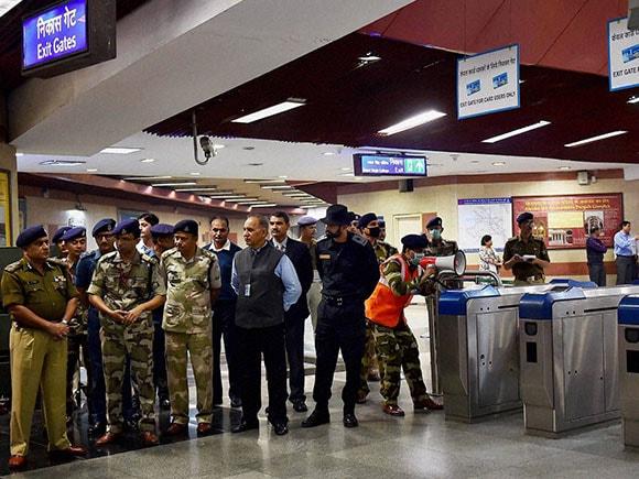 mock drill, Metro Station, CISF volunteer, Jawaharlal Nehru Stadium
