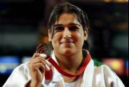 India's bronze medalist Rajwinder Kaur poses