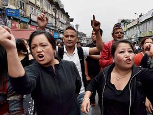 Activists of GJM take out rally in Darjeeling