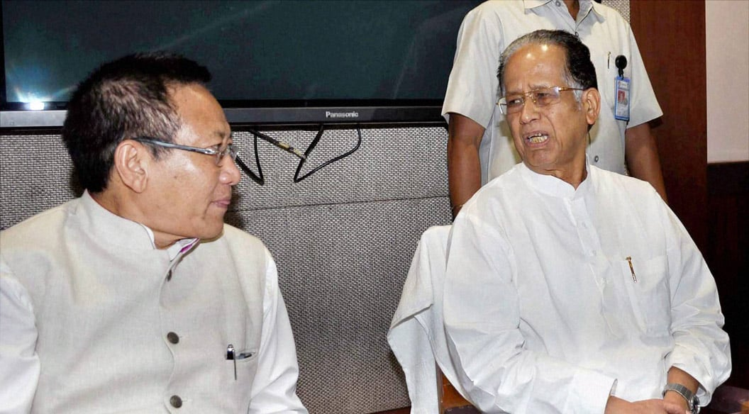 Assam, Chief Minister, Tarun Gogoi, Nagaland ,CM, T  R Zeliang, meeting, Assam-Nagaland, Border, conflict