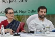 Congress President Sonia Gandhi with  party Vice President Rahul Gandhi
