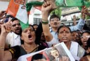 Maharashtra Congress protests against suspension of 25MPs