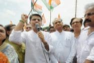 Rajasthan Congress protests against suspension of 25MPs