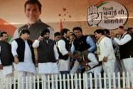 Congress Vice President Rahul Gandhi's election rally in Delhi