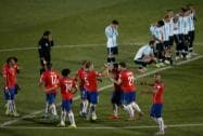 Chile's players celebrate