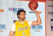 Abhishek Bachchan during the launch of an NBA store