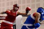 Aspiring women boxers at the Commonwealth Games