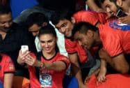 Lauren Gottlieb at the Pro Kabaddi League match