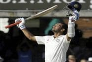 Ajinkya Rahane celebrates scoring a century at Lord's