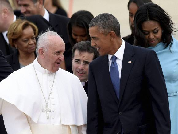 Pope Francis, US President, Barack Obama, Michelle Obama, Andrews Air Force Base, Day in Pics, Picture of the Day, Funny Pictures, Very Nice Pictures