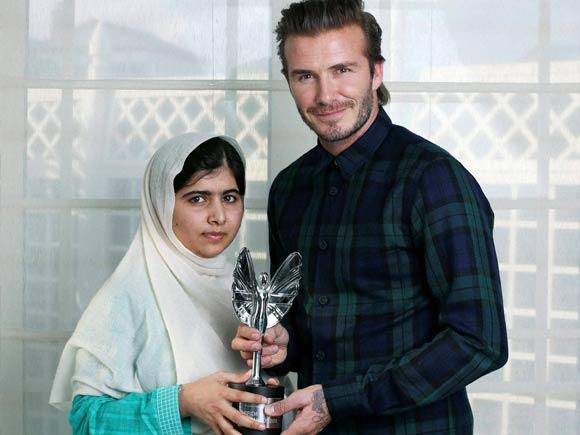 Malala Yousafza, David Beckham,Daily Mirror, Taliban