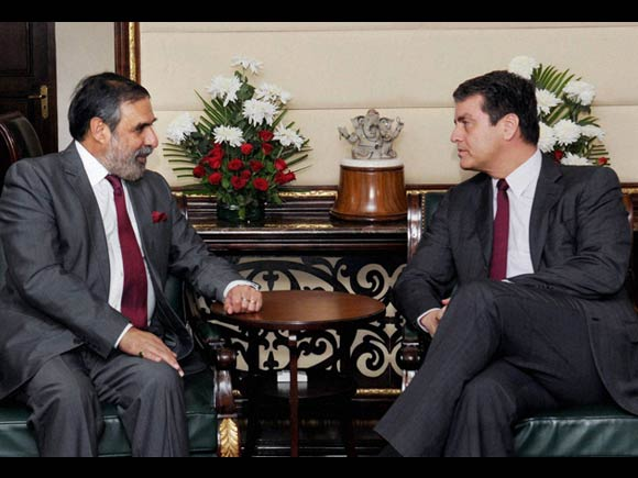 Union Minister for Commerce & Industry Anand Sharma, WTO Director-General Roberto Azevedo