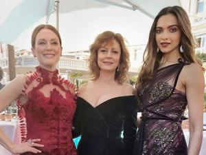 Deepika Padukone with Julianne Moore and Susan Sarandon