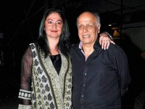 Mahesh Bhatt with his daughter and actor Pooja Bhatt