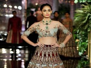 Model walks on the ramp in designer Manish Malhotra