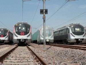 Delhi Metro's new train ready for operations at its state of the Art depot in Mukundpur, in New Delhi.
