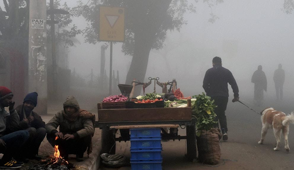 Delhi,new delhi, 2.6 degree, cold, foggy, foggy weather, heavy fog