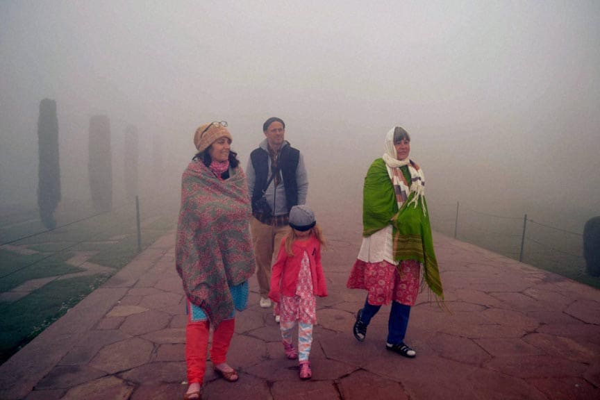 Delhi,new delhi, 2.6 degree, cold, foggy, foggy weather, heavy fog, Tourist, taj mahal