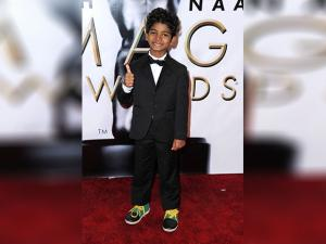 Sunny Pawar arrives at the 48th annual NAACP Image Awards