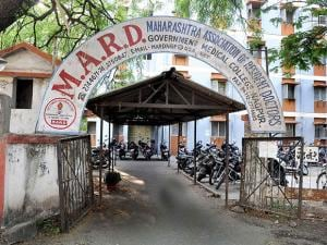 A deserted view Maharashtra Association of Resident Doctors (MARD) office as doctors are on strike, in Nagpur