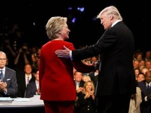 Democratic presidential nominee Hillary Clinton and Republican presidential nominee Donald Trump