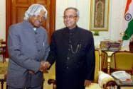 Former president APJ Abdul Kalam with President Pranab Mukherjee