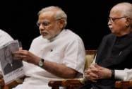Prime Minister Narendra Modi with LK Advani