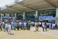 Crowd at the Madurai Airport