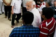 Prime Minister Narendra Modi interacts with relatives of former President APJ Abdul Kalam
