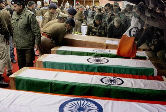 bodies of Five CRPF Jawans