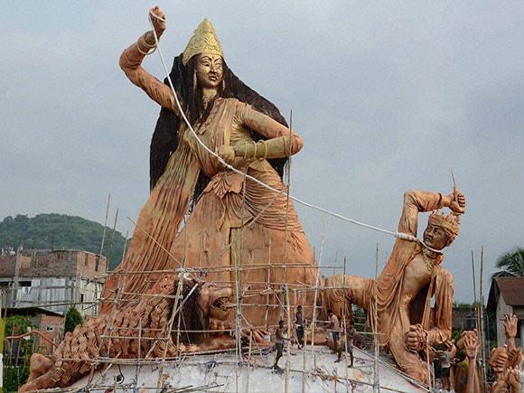 Puja, Durga puja, Navratri, Durga pooja, Devi Durga idol, north-east india