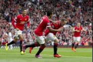 Manchester United's Wayne Rooney, scores against Swansea City