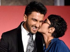 Actor Ranveer Singh and filmmaker Kiran Rao during an MoU signing ceremony between