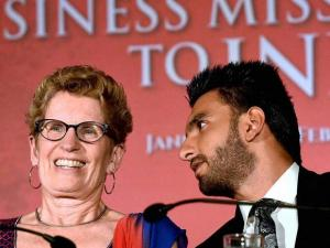 Kathleen Wynne, Premier of Ontario, Canada and actor Ranveer Singh