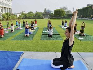 People practicing Yoga during International Day of Yoga in Canada 02