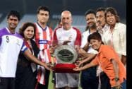 Former Indian cricket captain and co-owner of ISL franchise Atletico de Kolkata Sourav Ganguly