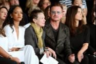 Starpix Rihannat, Laurie Anderson, Bono and Ali Hewson sit in the front row at the Edun Spring 2015 collection