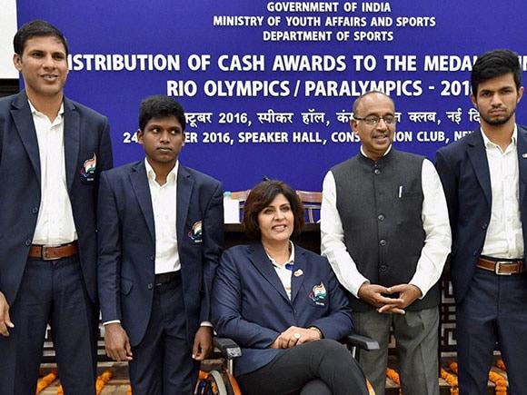 Rio Paralympic, Deepa Malik, Devendra Jhajharia, Mariyappan Thangavelu, Varun Singh Bhati, Vijay Goel, medal winners