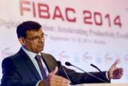 RBI Governor Raghuram Rajan speaks during FICCI's FIBAC 2014