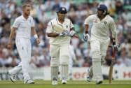 India's MS Dhoni teammate Ishant Sharma run off the pitch