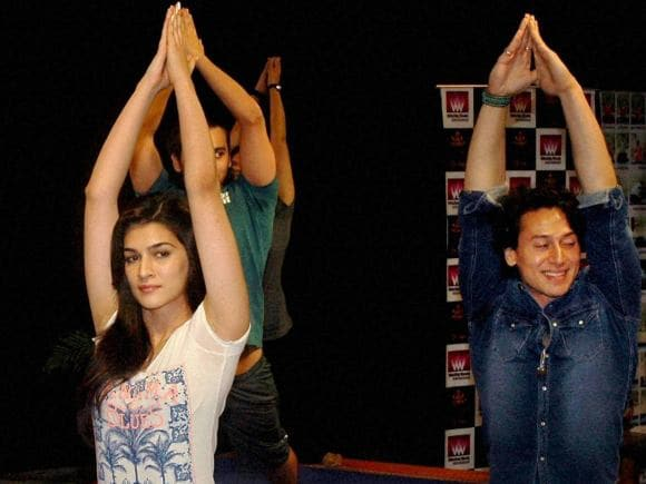 Tiger Shroff, Kirti Sanon, Yoga, World Yoga Day, International Yoga Day, Mumbai