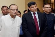 Arun Jaitley, Jayant Sinha, Raghuram Rajan
