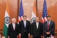 Finance Minister Arun Jaitley, US Treasury Secretary Jacob L Lew,RBI Governor Raghuram Rajan and U.S. Federal Reserve Vice Chairman Stanley Fischer