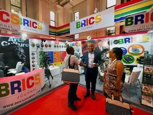 Foreign Deldgates at the first ever BRICS Trade Fair at Pragati Maidan