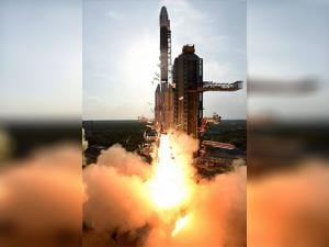 ISRO's  GSLV-F05 carrying INSAT-3DR takes off from Sriharikota
