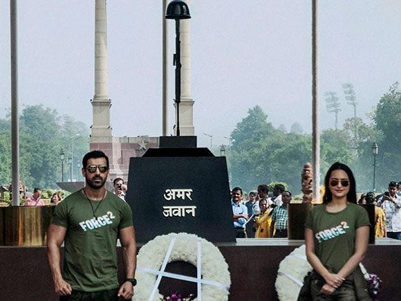 Amar Jawan Jyoti, Force 2, John Abraham, Sonakshi Sinha, India Gate