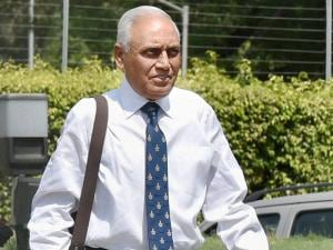 Former Air Chief Marshal S.P. Tyagi arriving at the CBI headquarters in New Delhi on Monday,in connection with alleged corruption in the 3,600 crore AgustaWestland choppers deal04
