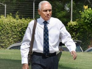 Former Air Chief Marshal S.P. Tyagi arriving at the CBI headquarters in New Delhi on Monday,in connection with alleged corruption in the 3,600 crore AgustaWestland choppers deal06