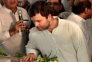 Congress Vice President Rahul Gandhi pays his last respects to former Union Minister Murli Deora